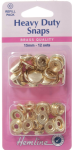 H405R.G Heavy Duty Snaps Refill Pack: Gold - 15mm